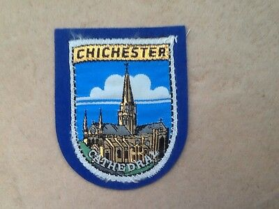 SAMPSON'S SOUVENIR CLOTH PATCH, BADGE of CHICHESTER CATHEDRAL