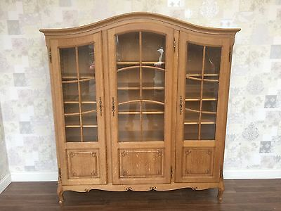 Louis XV Style French Oak Display Cabinet