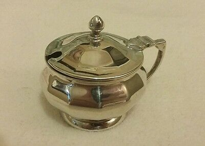 Silver Mustard Pot with hinged lid