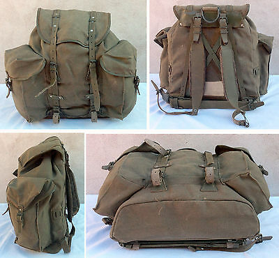 Sac A Dos - Militaire - Ancien - Montagne - Camping