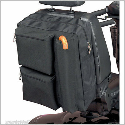 Scooter Mobility Waterproof Bag Wheelchair Storage Walking Sticks Disability Aid