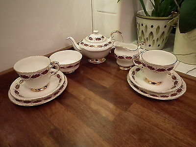 Paragon Bone China Elegance Pattern Tea For Two including Teapot