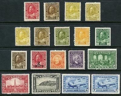 Canada Mostly GV lot of Mint Stamps. Values to 20c. Cat app £240, Some faults
