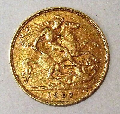1907 Gold Half Sovereign Excellent Condition