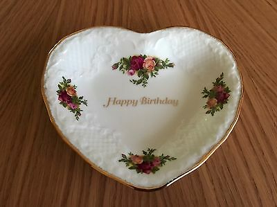 Royal Albert Old Country Roses Happy Birthday Dish