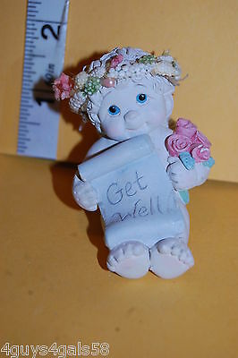 Collectible DREAMSICLES Adorable Baby GET WELL ANGEL CHERUB Pink Roses HALO