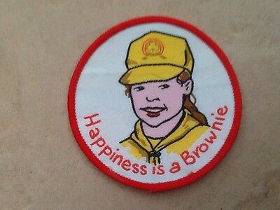 Souvenir Cloth Patch,Badge - HAPPINESS IS A BROWNIE