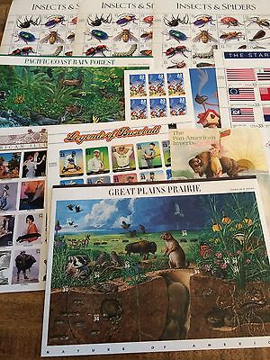 $427.27 Face Value US Commemorative Sheets, Mint, Never Hinged, Original Glue