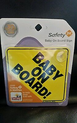 Safety 1st Baby On Board Sign 5x5 NEW