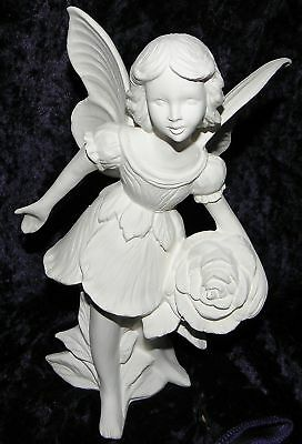 Ready to Paint Ceramic Bisque Flower Fairy - Rose