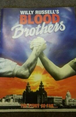 Blood brothers theatre brochure  signed.