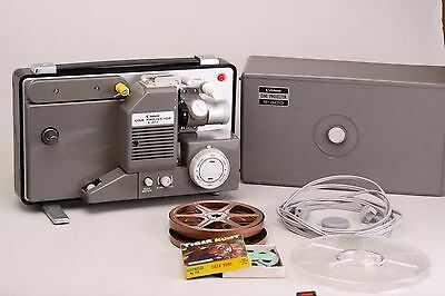 Canon S400 projector S-400 dual super 8mm  Variable speed movie projector w film