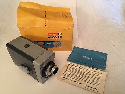 Vintage Kodak Brownie Super 8 Movie Camera With Box And Instructions