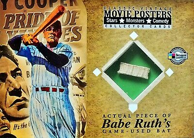 BABE RUTH Piece of Authentic Game-Used Baseball BAT Breygent 2009 card PSA/DNA