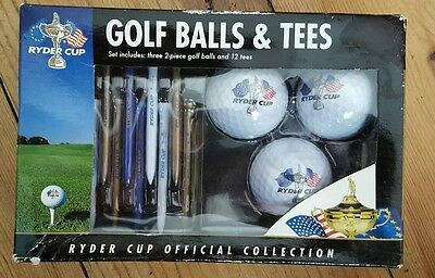 Ryder Cup Golf balls and tees