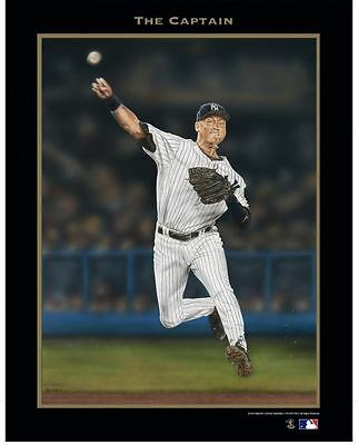 "DEREK JETER THE CAPTAIN By ARMANDO VILLARREAL 19"" X 24"" VICTORY FINE ART POSTER"