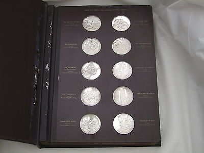 RARE SET of 60 STERLING SILVER GENIUS OF MICHELANGELO MEDALS