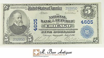 Series 1902 $5 National Bank of the Republic of Chicago National Currency *019