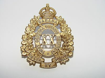 Canada WW1 CEF Cap Badge Officers 20th Battalion 'First Central Ontario Regiment