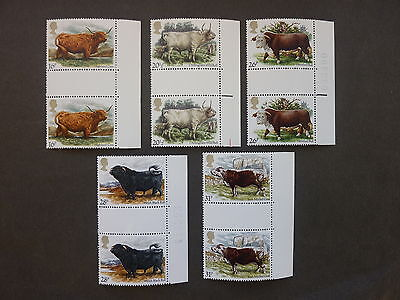 British Stamps NH  British Cattle Gutter Pairs