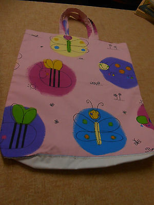 LIBRARY BAG, Bugs on Pink, 42cm x 35cm