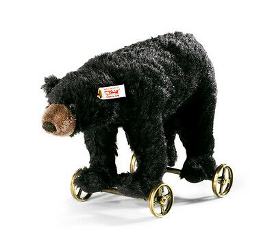Black Bear on Wheels by Steiff - EAN 034428