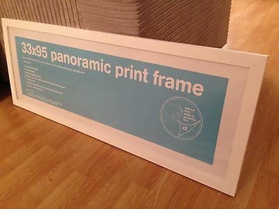 White panoramic picture frame 33 x 95cm