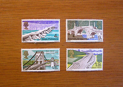 Sg. 763 - 766  Gb Stamps British Bridgess 1968  Mnh