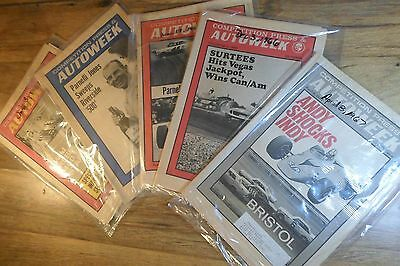 Lot of (5) 1966-67 Competition Press & Autoweek Issues Parnelli Jones