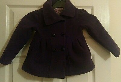 Beautiful girls size 18-24 months purple double breasted coat