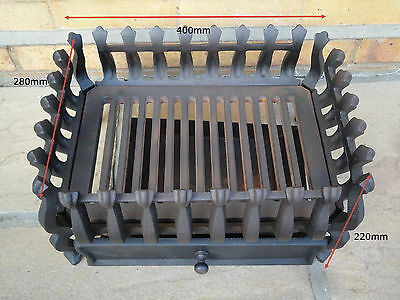 Cast Iron Fire Grate Basket + Ash Pan *Collection Only* Ipswich