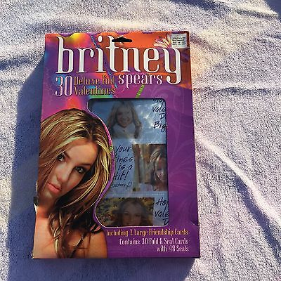 New In Box Britney Spears 30 Deluxe Foil Valentines From 2000 Great Rare Item
