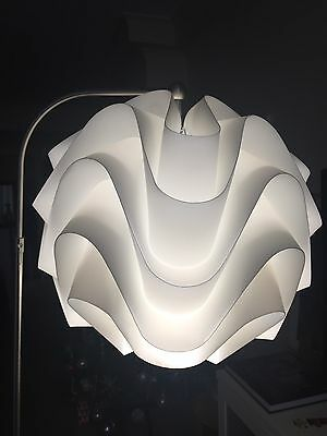 Floor Lamp with white polypros lampshade - pick up only