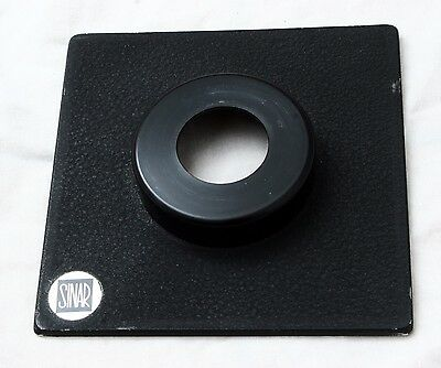 Genuine Sinar 138mm x 138mm Lens Board Cut Out Extended 18mm Copal 0