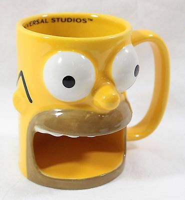Universal Studios Simpsons Homer Coffee Mug Cup Donut Holder  KRUSTYLAND