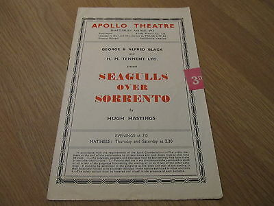 Seagulls Over Sorrento Theatre Programme 50 Dr Who William Hartnell M James Bond