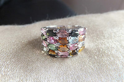 Silver 925 Ring with Stones in different colors
