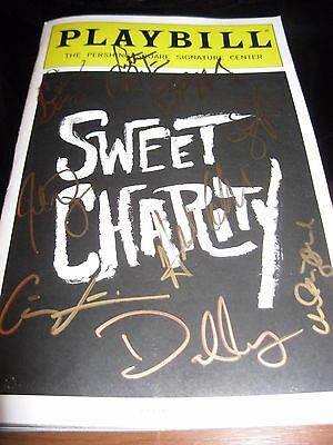 Sweet Charity Off Broadway Playbill Autographed by Sutton Foster & Cast ! WOW!!
