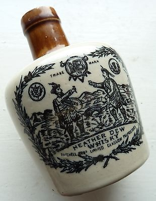 4.75 inch mini size THE GREYBEARD heather dew whisky whiskey jug crock C 1910s