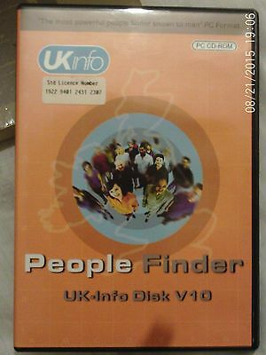 UK INFO Discs V10 standard  PEOPLE FINDER, 2004 ELECTORAL REGISTER