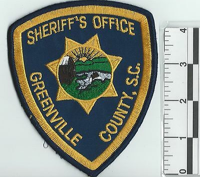 NEW RARE GREENVILLE SHERIFF'S OFFICE UNIFORM PATCH not police department officer