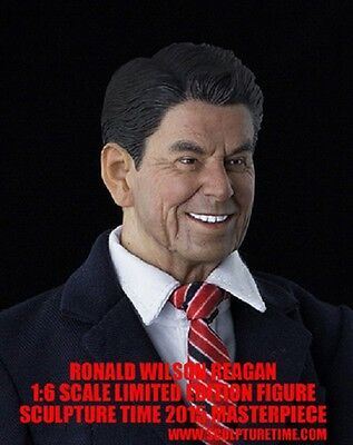 SCUPTUME TIME Usa Us President Ronald Wilson Reagan doll set 1/6 scale toy model