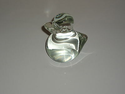 Duck Duckling Figurine Glass Crystal Hand Made Paper Weight art collectible
