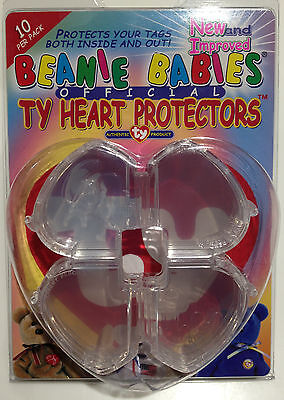 Ty Heart Protectors™ - Beanie Babies® Official - New And Improved - Pack Of 10