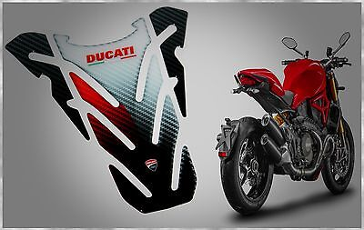 Ducati Monster 600 659 696 795 796 821 1100 Evo 1200 Carbon Tank Pad Protector