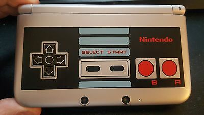 Nintendo 3DS XL- Retro NES Edition Silver Handheld System & Charger