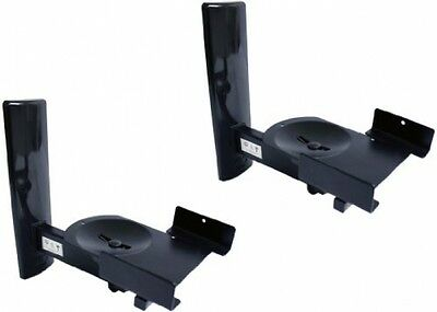 B-Tech BT77 - Ultragrip ProTM Side Clamping Loudspeaker Wall Mounts with Tilt -