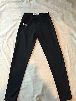 Under Armour base layer leggings cold gear youth sz sm black