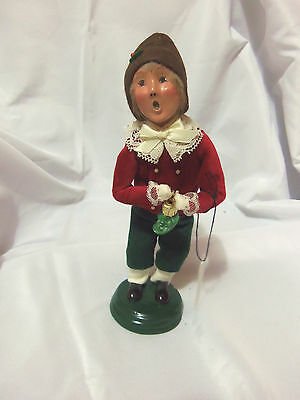 New Unused 1999 Byers Choice Caroler Child with Pickle Ornament with Tag