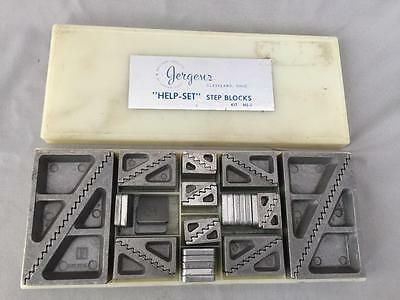 "Jergens ""help-Set"" Step Block Set Kit # Hs-1"